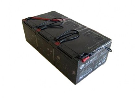 Set of three A/T batteries. HD 12 volt 12 amp batteries, wired.